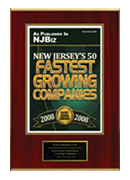 2008-XCEL Solutions Corp Selected For New Jersey's Fifty Fastest Growing Companies