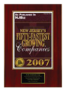 2007-XCEL Solutions Corp Selected For New Jersey's Fifty-Fastest Growing Companies