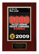 2009-XCEL Solutions Corp Selected For 5,000 Fastest-Growing Private Companies In America