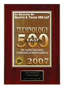 2007-XCEL Solutions Corp Selected For Technology Fast 500