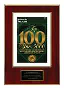 """2008-XCEL Solutions Corp Selected For """"Top 100 Inc. 5000 Companies By Metro Region"""