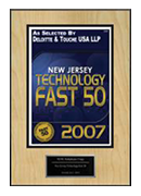 2007-XCEL Solutions Corp Selected For New Jersey Technology Fast 50