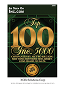2008- XCEL Corp Featured in Top 100 Inc. 5000 Companies by Industry