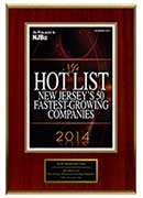 2014-XCEL Solutions Corp Selected For NJ's Hot List: New Jersey's 50 Fastest Growing Companies