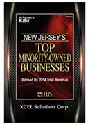 2015 XCEL Corp Selected among Top Minority Owned Businesses in NJ